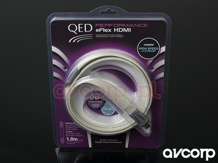 QED Performace E-FLEX HDMI v 1.4 HS+Ethernet SUPERSPEED (QE312 FLAT)