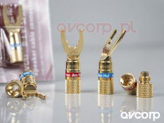 Chord speaker cable termination kit screw type 4mm z plug van den hul diy speaker connector spades sciox Image collections