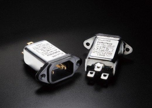 // G R 1x Furutech AC IEC Inlet 1501 Gold Rhodium Power Socket EMI Filter hifi