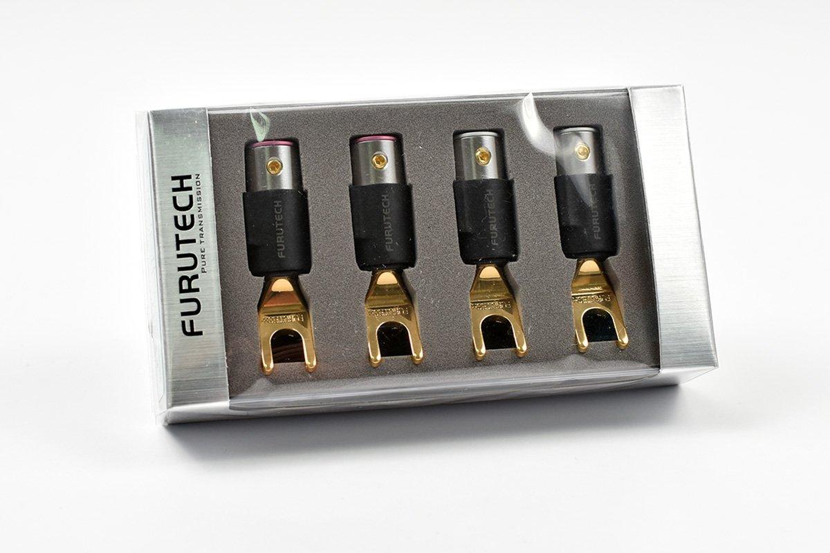 Japan Furutech FT-211 R Rhodium Speaker Cable Y Spade Terminal Connector Plug