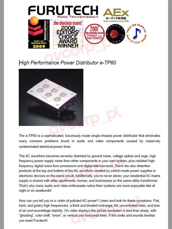 Furutech e-TP60E - power terminal | Power supply \ Mains