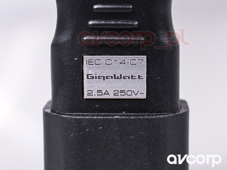 GigaWatt IEC320-C7 Power Plug Adapter