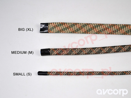ViaBlue cable sleeve BIG (XL) 10-25mm ARMY - (price per meter)
