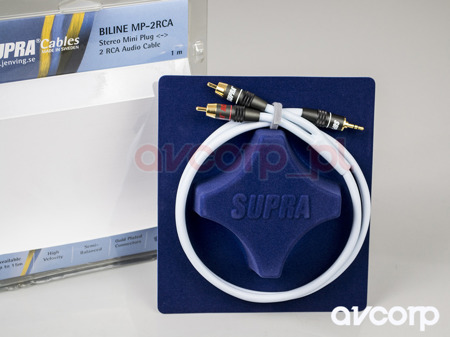 Supra BiLine-MP - mini jack na 2RCA