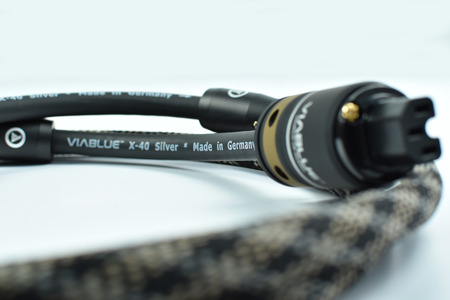 ViaBlue X-40 Silver Power Cable - schuko EU
